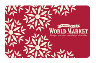 Monday gift card giveaway… WORLD MARKET