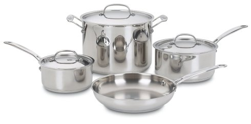 7-piece Cuisinart Stainless Steel Cookware usually sells for $260, but is on sale at amazon.com for $96!